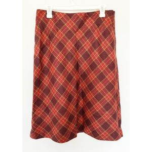 Willi Smith wool Italy plaid career skirt size 12